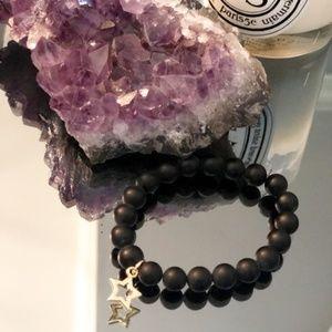 Mala Bracelet Black Onyx Star Meditation Healing 6